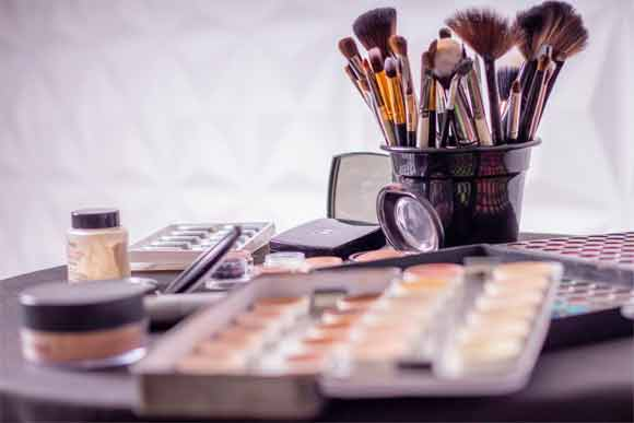 Store the makeup items near the mirror where you usually get ready