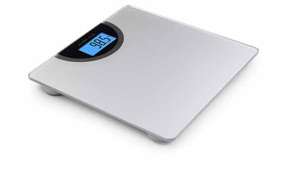 Place the weight on the scale