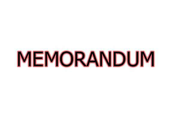 Draft the initial Memorandum of understanding
