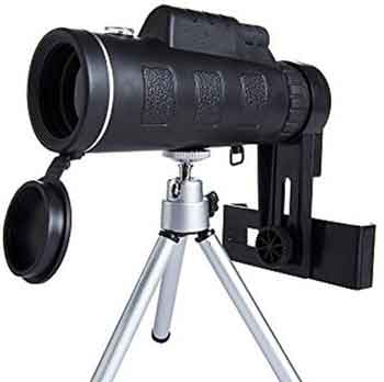 How can you focus the monocular