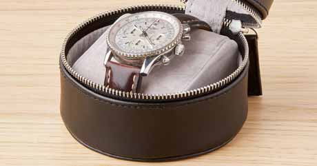 Details on Leather Watch Cases
